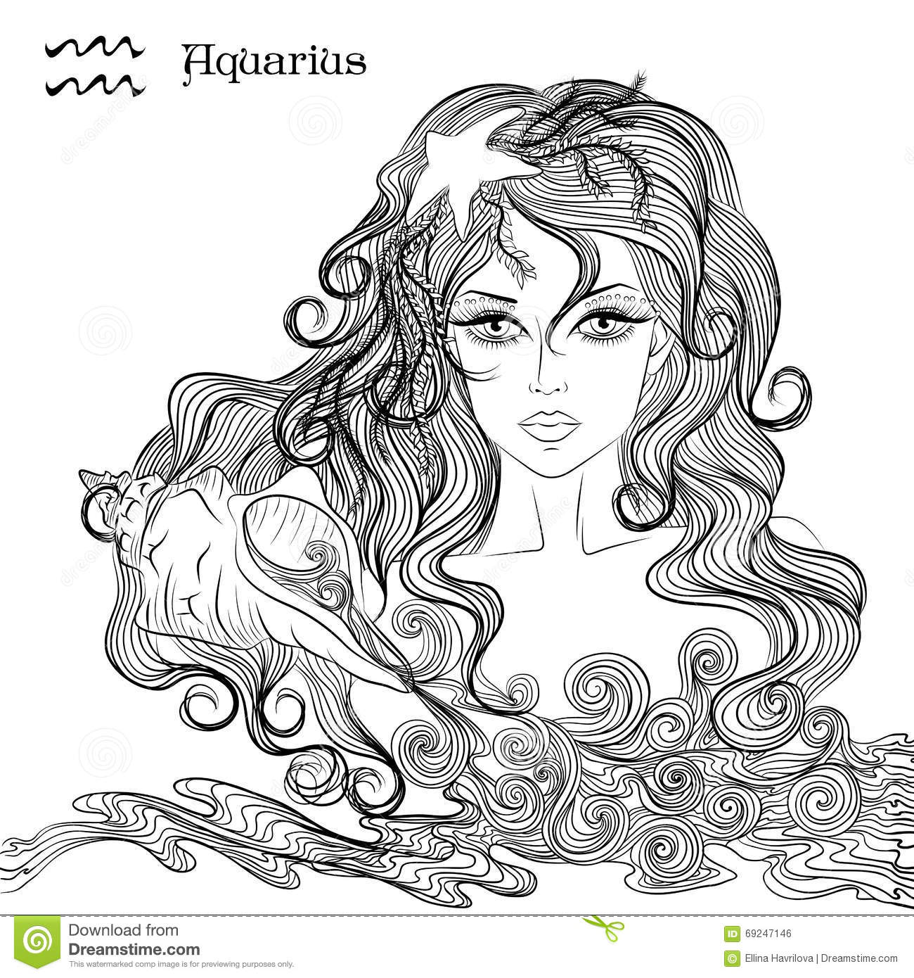 Aquarius (Astrology) coloring #13, Download drawings