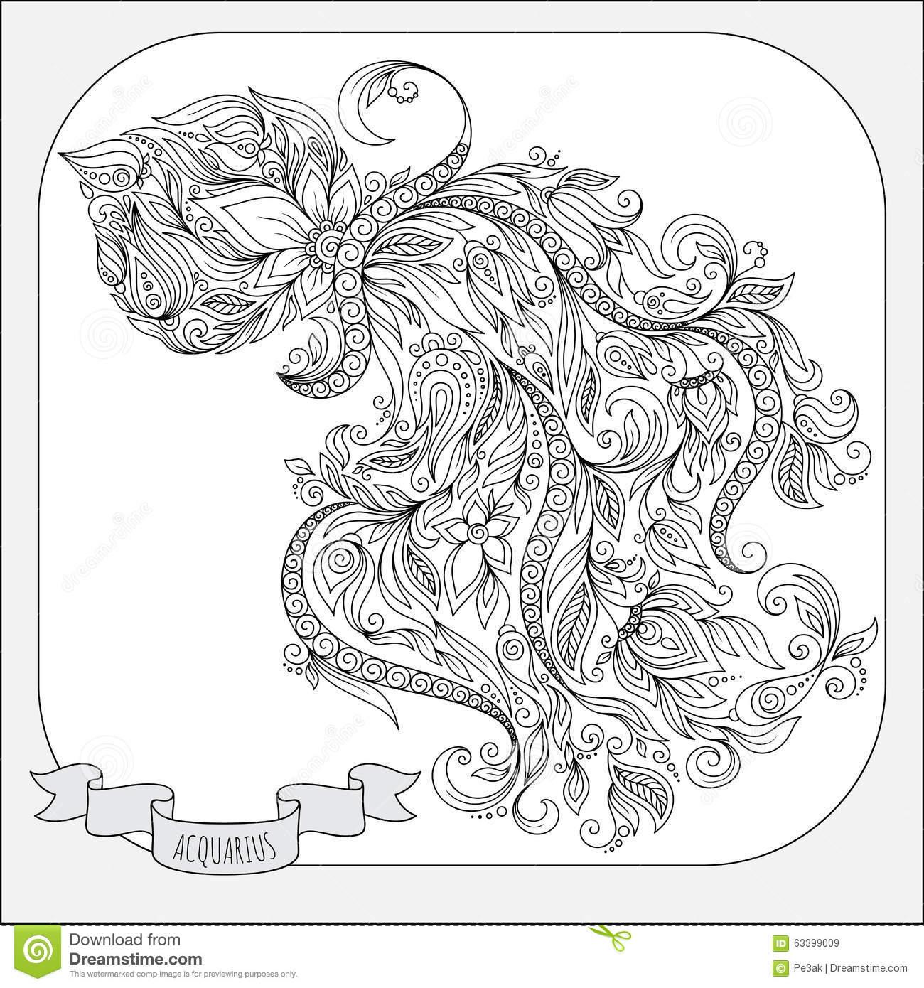 Aquarius (Astrology) coloring #12, Download drawings