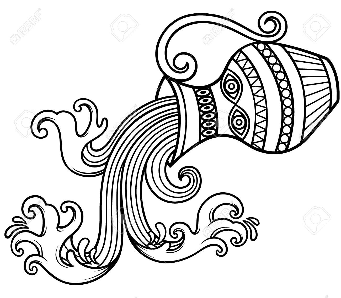 Aquarius (Astrology) coloring #10, Download drawings