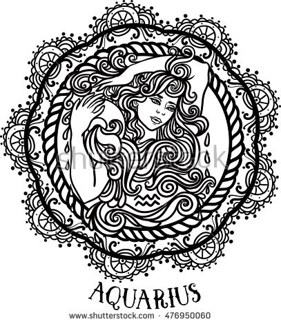 Aquarius (Astrology) coloring #11, Download drawings