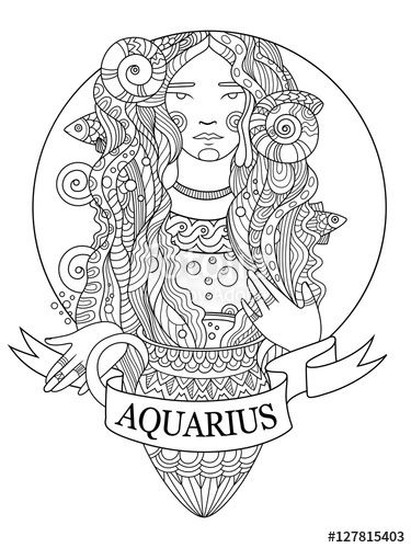 Aquarius (Astrology) coloring #8, Download drawings