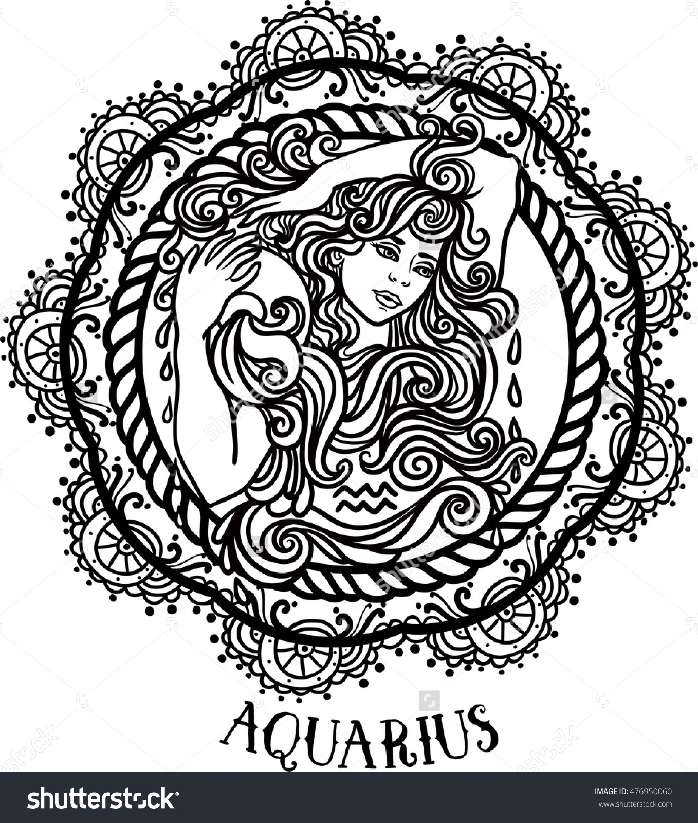 Aquarius (Astrology) coloring #5, Download drawings