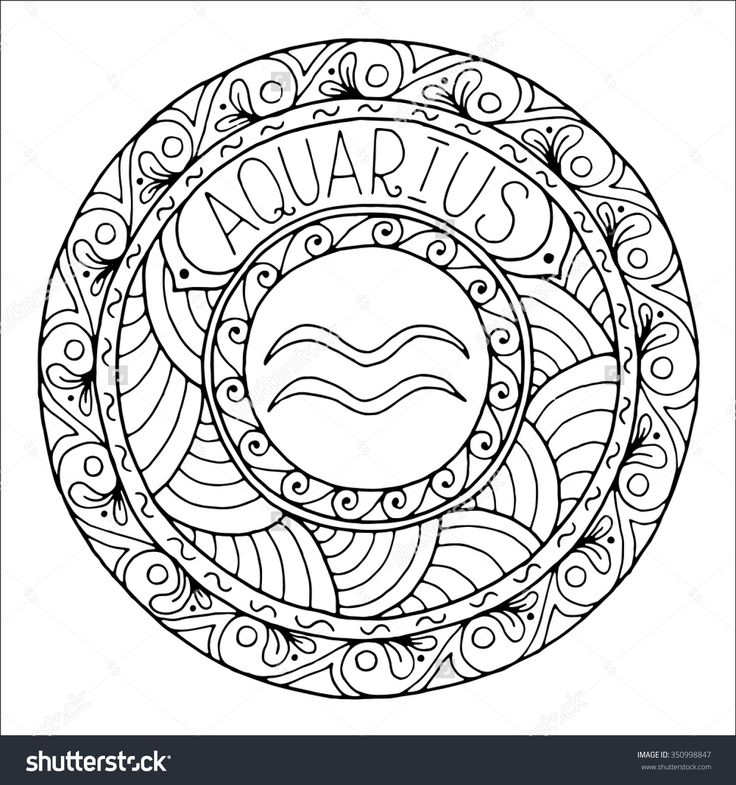 Aquarius (Astrology) coloring #15, Download drawings