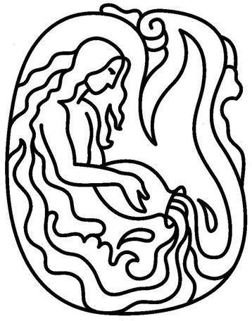 Aquarius (Astrology) coloring #3, Download drawings