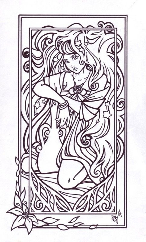Aquarius (Astrology) coloring #16, Download drawings