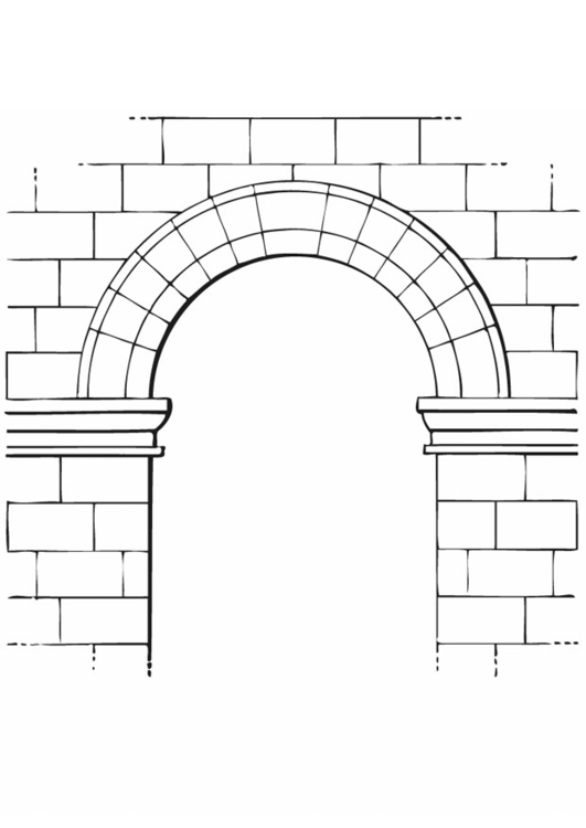 Arch coloring #9, Download drawings
