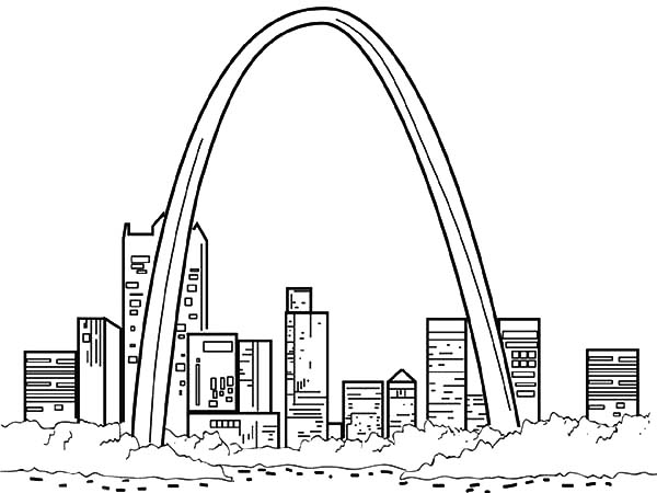 Arch coloring #11, Download drawings