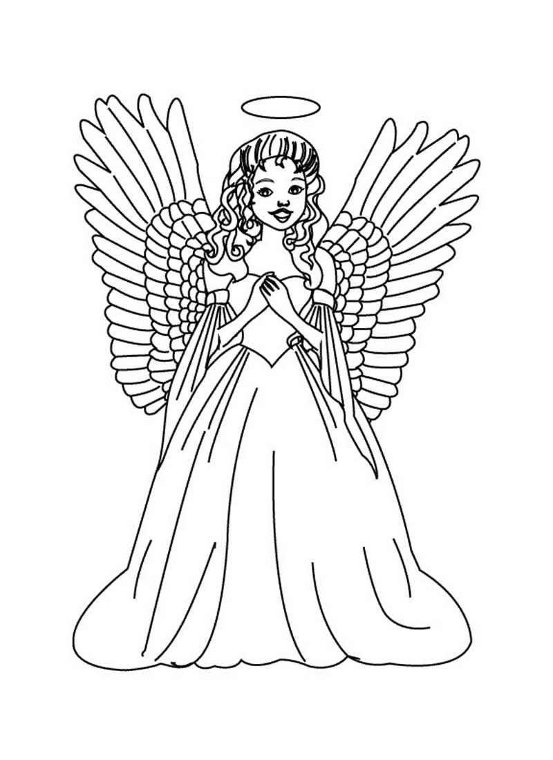 Archangel coloring #14, Download drawings