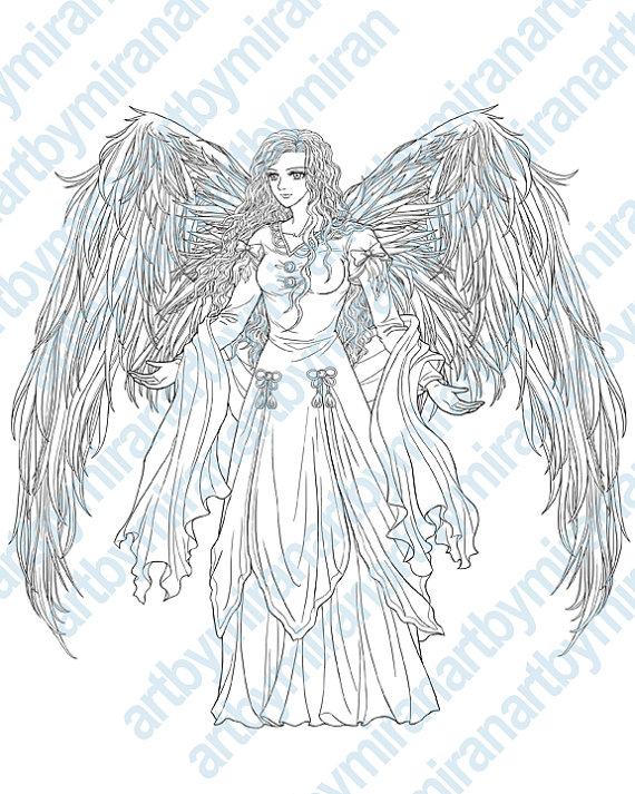 Archangel coloring #16, Download drawings