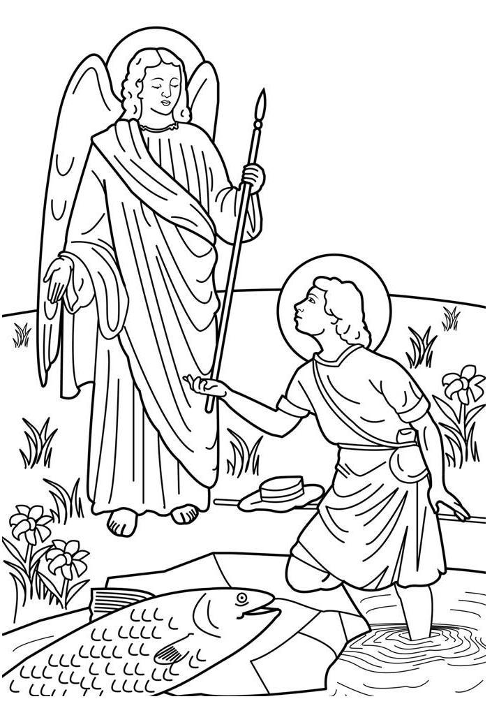 Archangel coloring #7, Download drawings