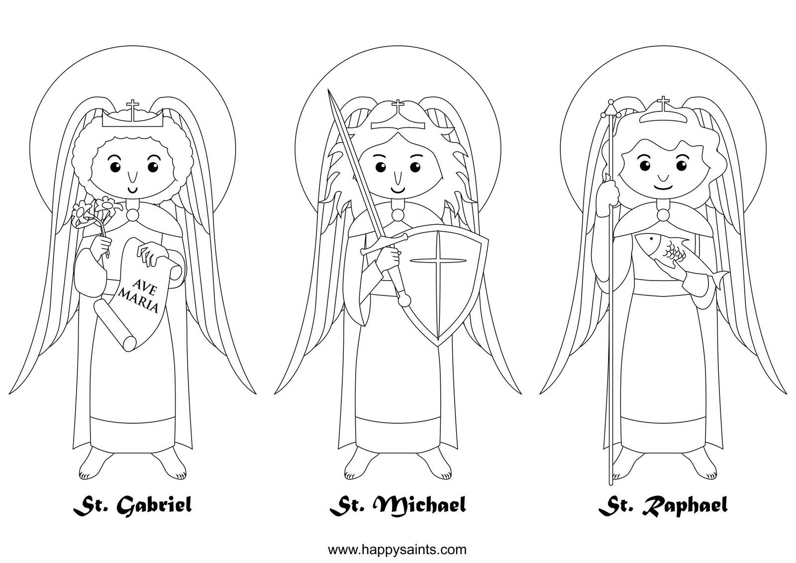 Archangel coloring #5, Download drawings