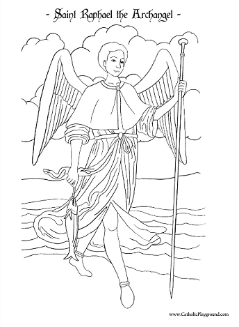 Archangel coloring #11, Download drawings