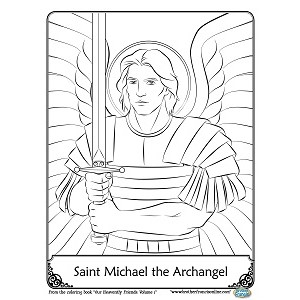 Archangel coloring #4, Download drawings