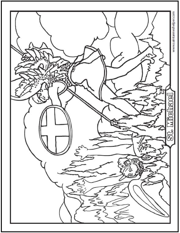Archangel Michael! coloring #11, Download drawings
