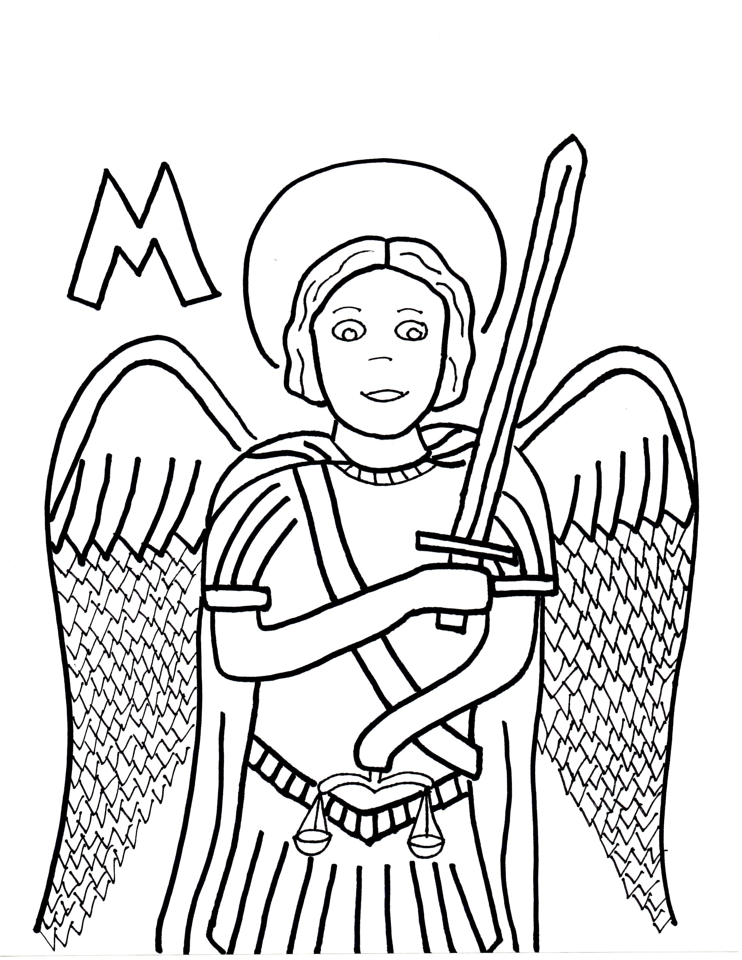 Archangel Michael! coloring #4, Download drawings