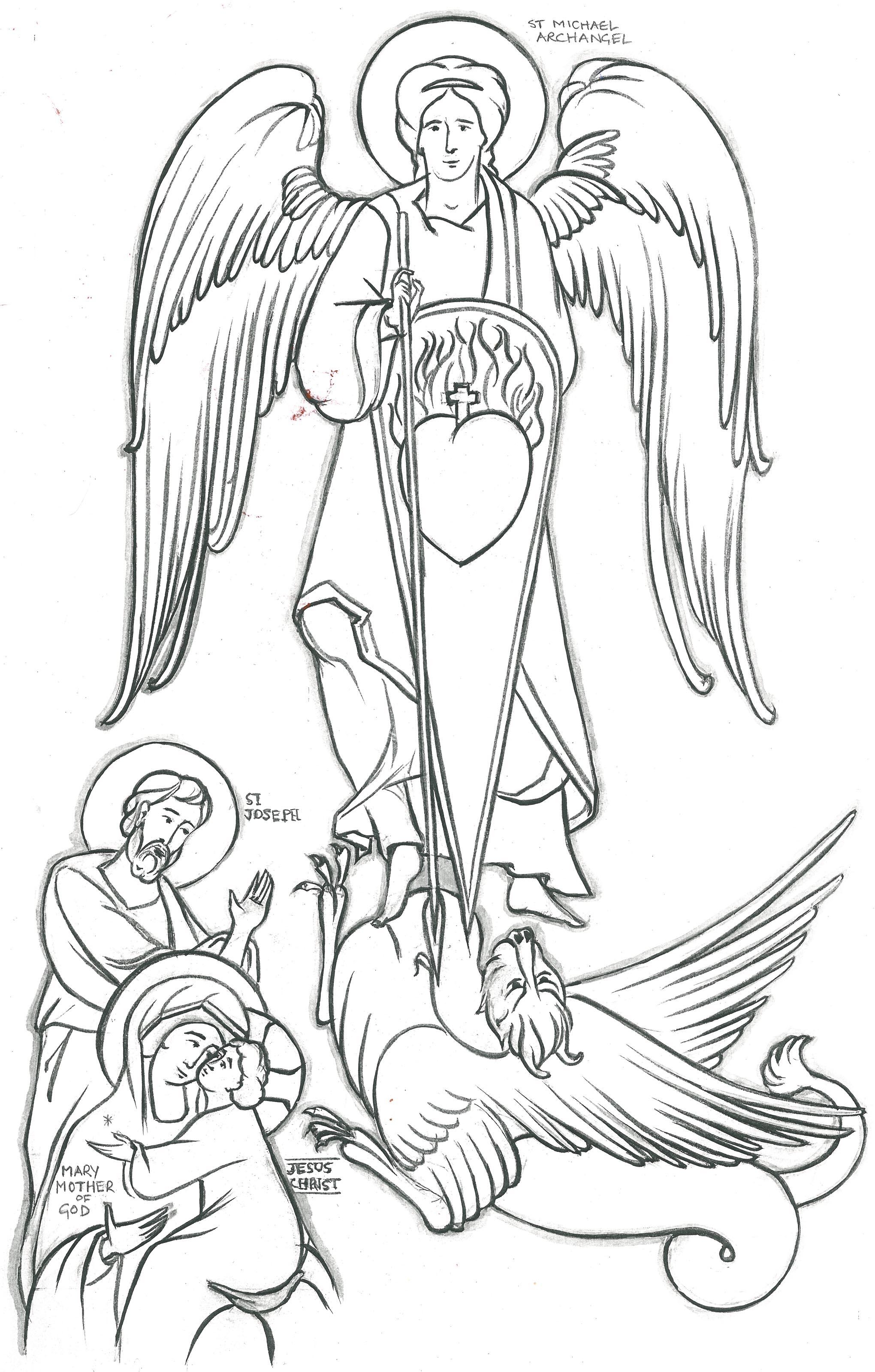 Archangel Michael! coloring #1, Download drawings