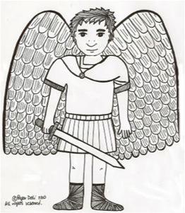 Archangel coloring #6, Download drawings