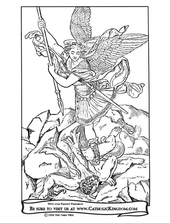 Archangel coloring #2, Download drawings