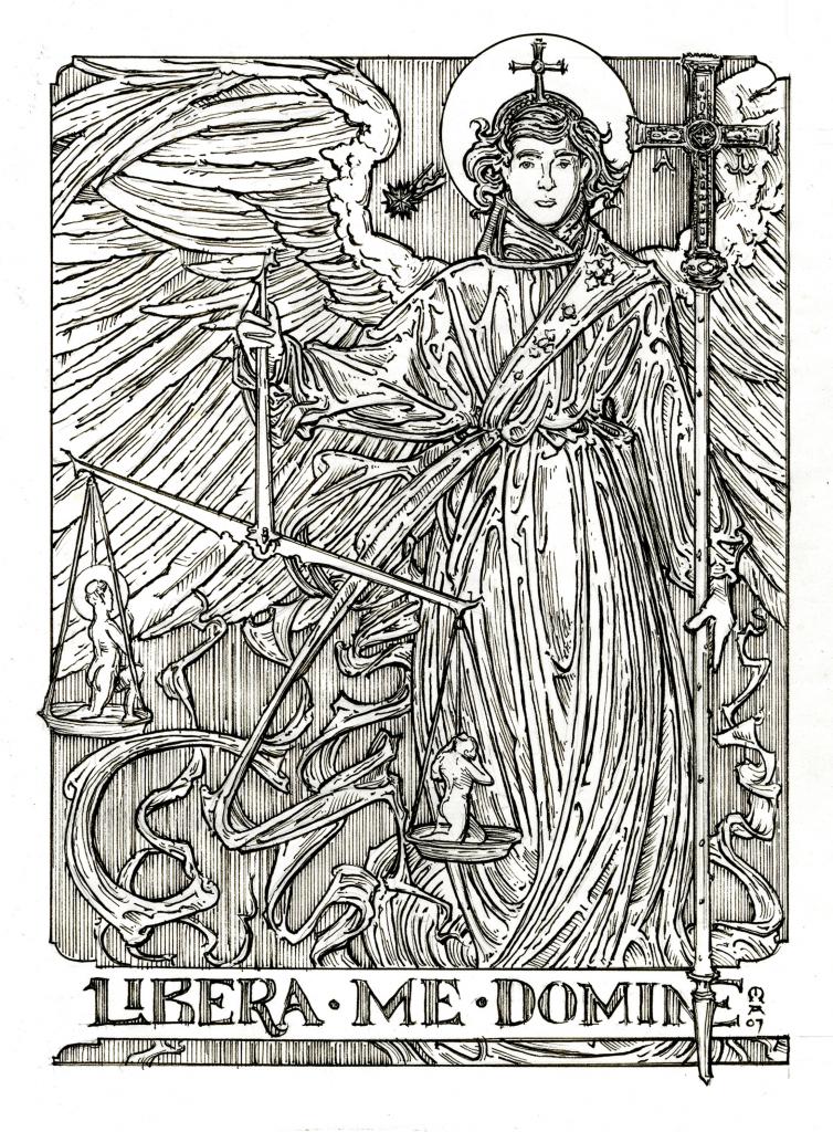 Archangel coloring #18, Download drawings