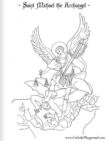 Archangel Michael! coloring #10, Download drawings