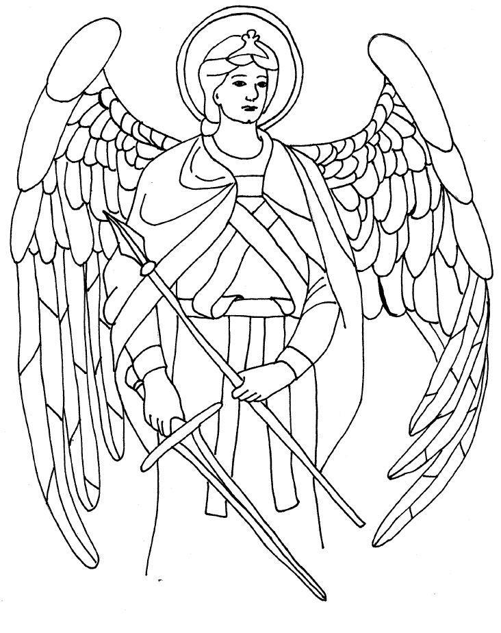 Archangel coloring #8, Download drawings