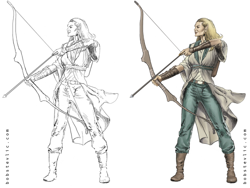 Archer coloring #3, Download drawings