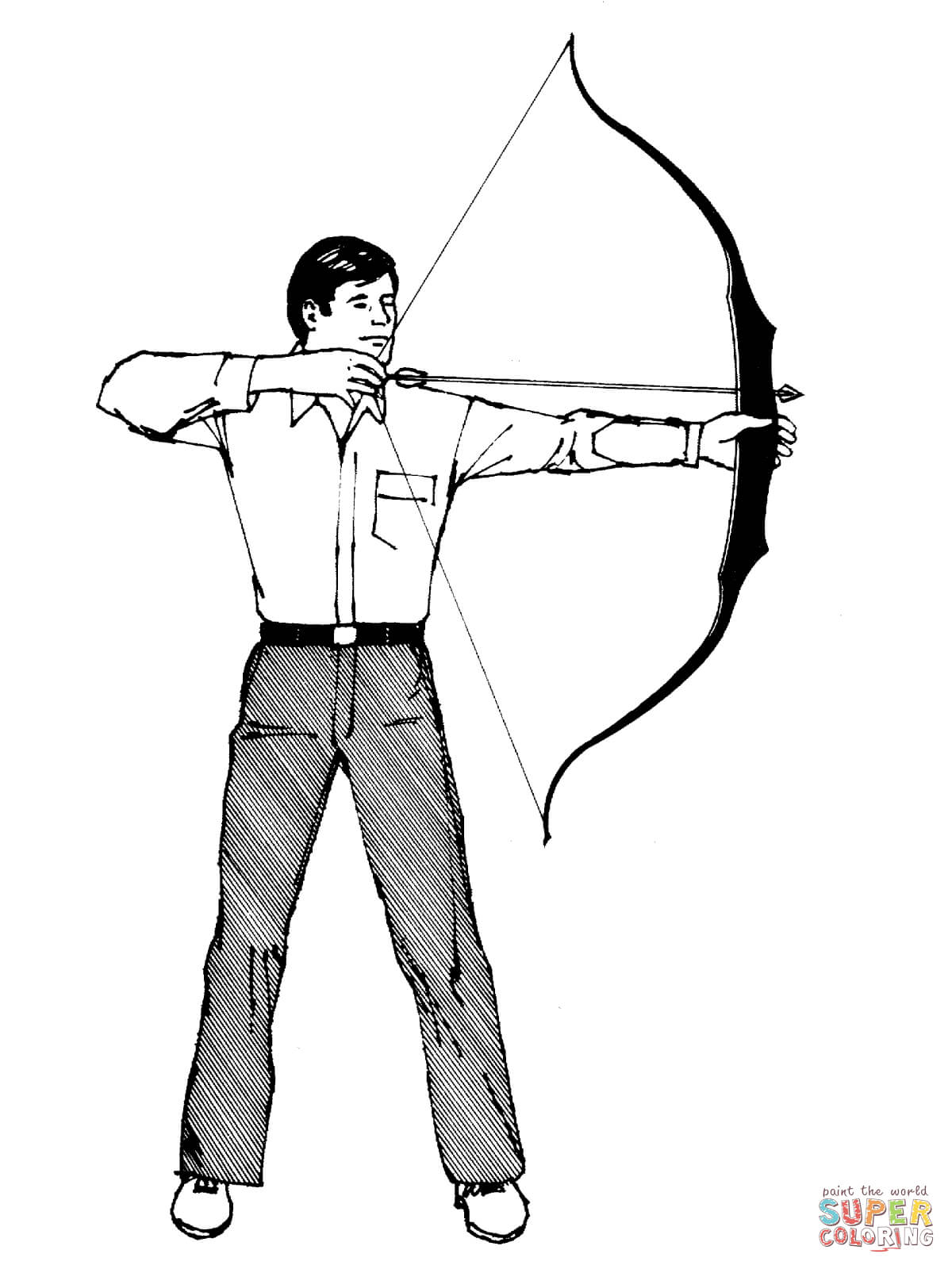 Archer coloring #12, Download drawings