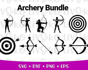 archery svg #1201, Download drawings