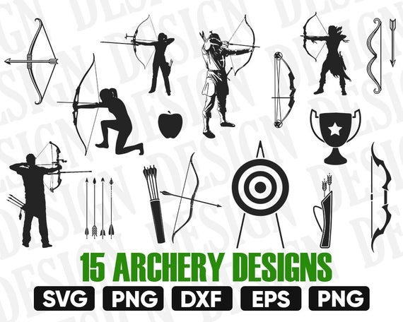 archery svg #1196, Download drawings