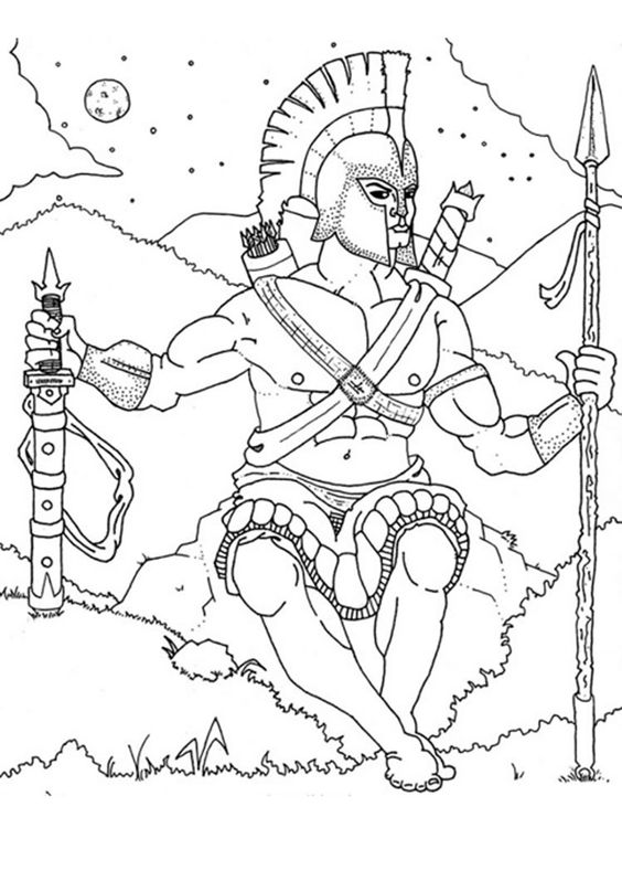 Ares coloring #13, Download drawings