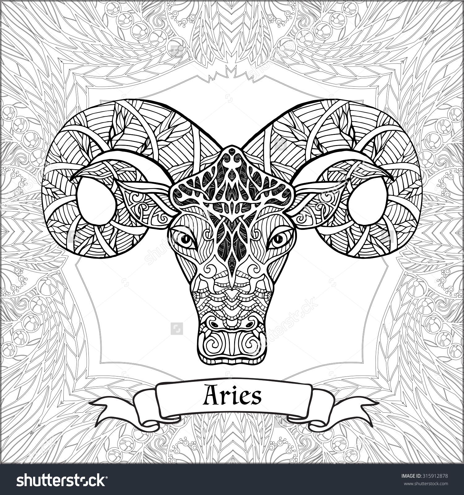Aries coloring #15, Download drawings