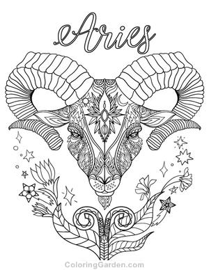 Aries coloring #4, Download drawings
