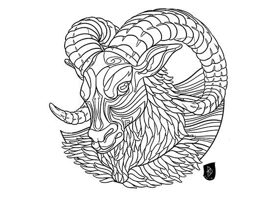 Aries coloring #17, Download drawings
