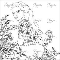 Aries coloring #1, Download drawings