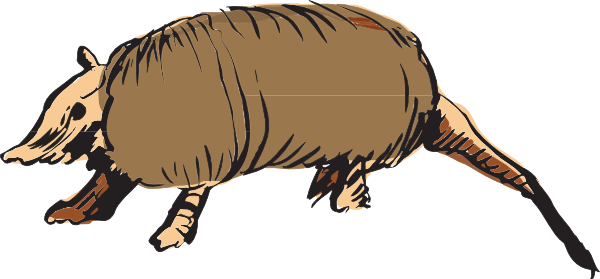 Armadillo clipart #3, Download drawings
