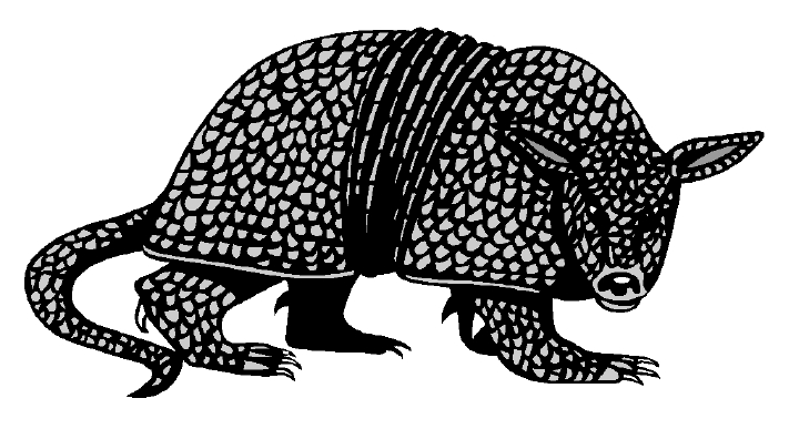 Armadillo clipart #2, Download drawings