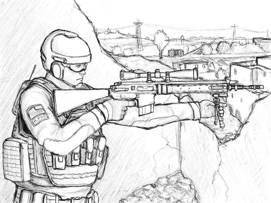 Army coloring #7, Download drawings