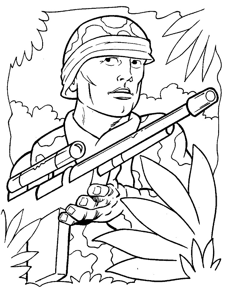 Army coloring #16, Download drawings