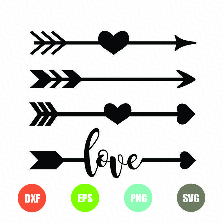 arrow with heart svg #411, Download drawings