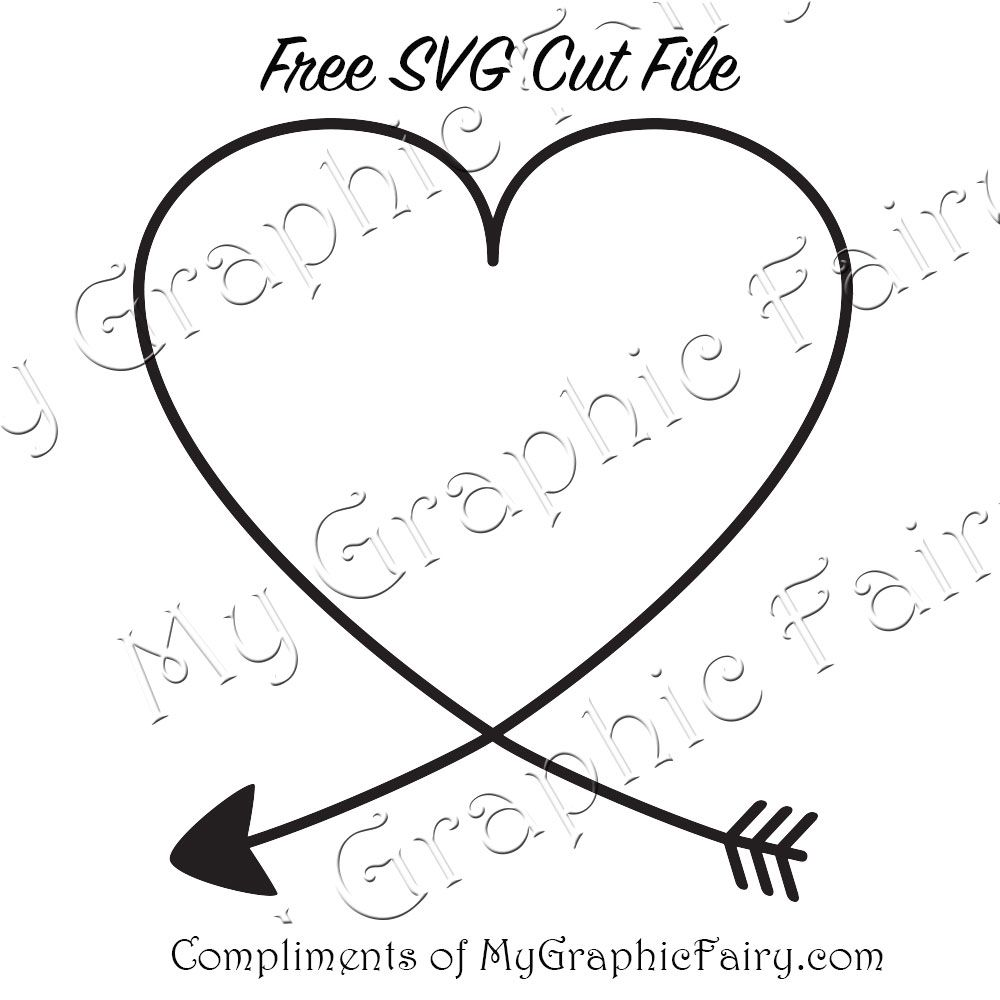 arrow with heart svg free #67, Download drawings