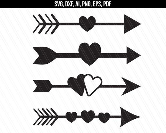 arrow with heart svg #415, Download drawings