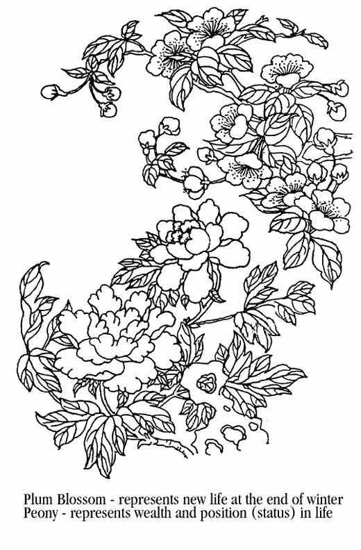 Asian coloring #19, Download drawings