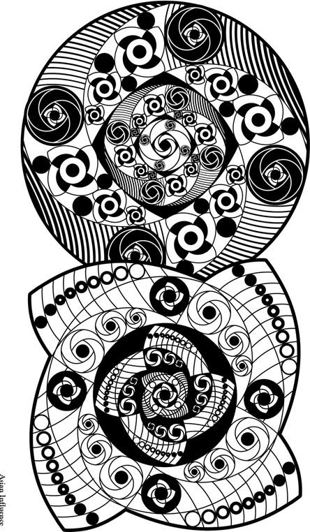 Asian coloring #3, Download drawings