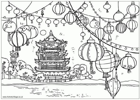 Asian coloring #8, Download drawings