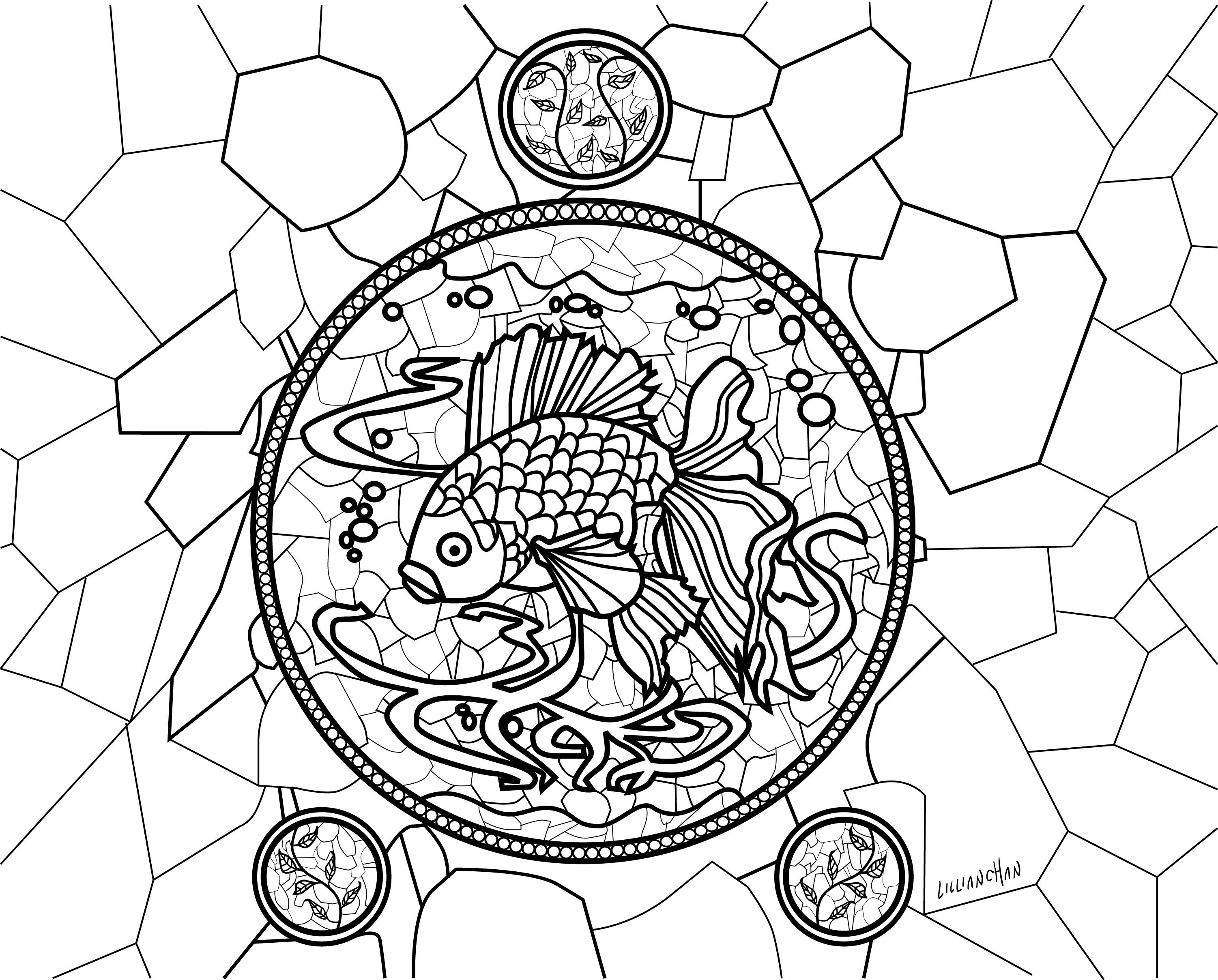 Asian coloring #1, Download drawings