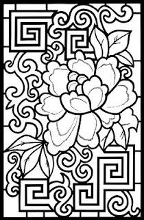 Asian coloring #14, Download drawings