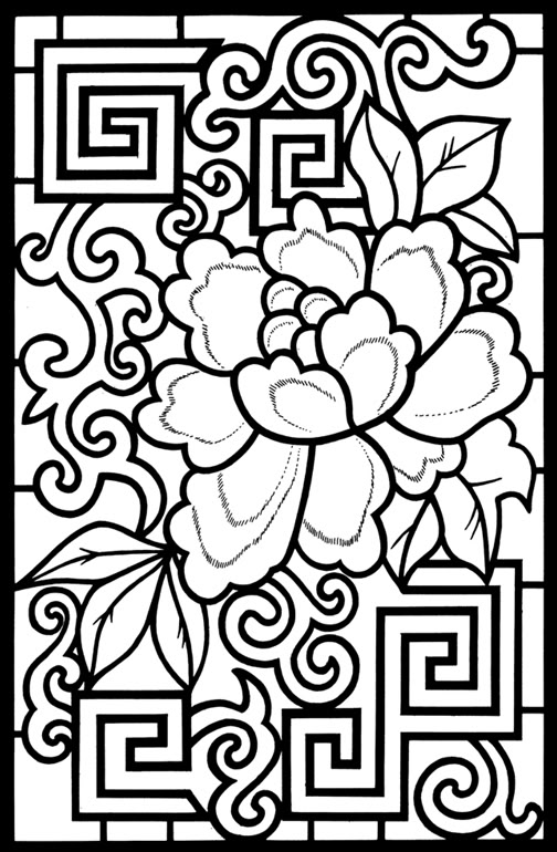 Asian coloring #17, Download drawings
