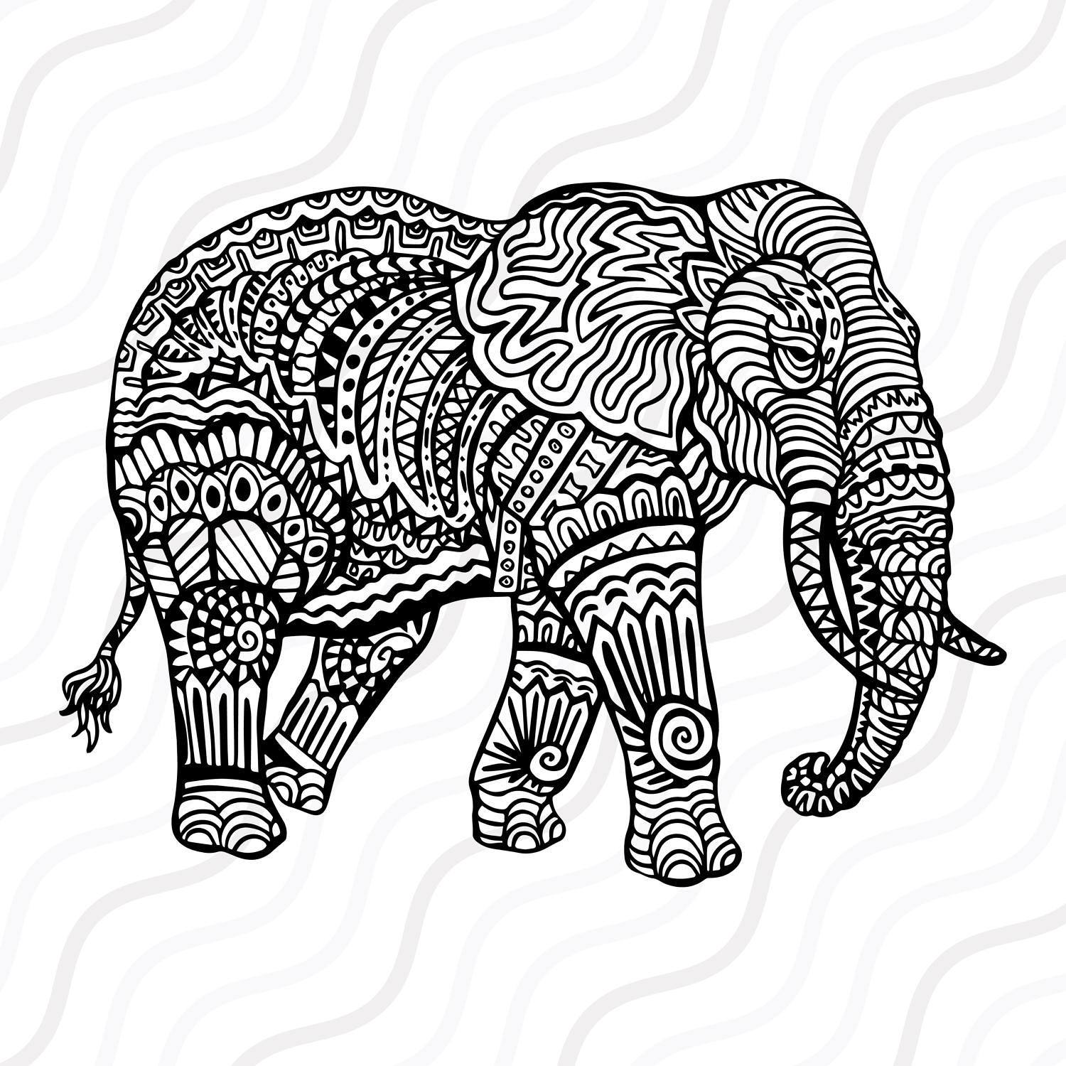 Asian Elephant svg #20, Download drawings