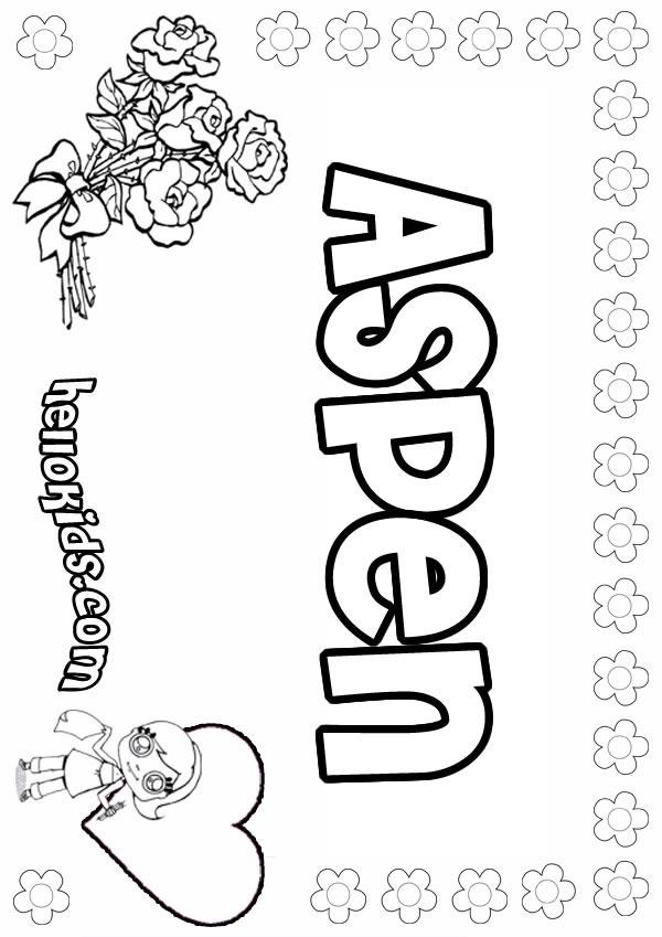Aspen coloring #7, Download drawings