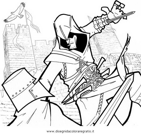 Assassin coloring #11, Download drawings